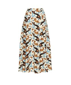 Etro | Abstract Paisley-Print Wool-Crepe Skirt