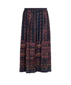 Vanessa Bruno | Frederique Floral-Print Pleated Crepe Skirt