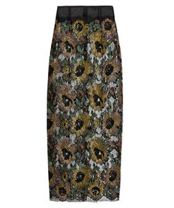Sophie Theallet | Mari Sequin-Embellished Embroidered-Lace Skirt