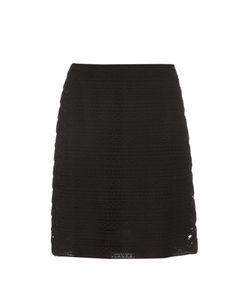 Burberry Prorsum | High-Waist Cotton-Blend Lace Skirt