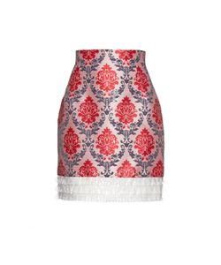 Mary Katrantzou | Renzie Damask-Jacquard Pvc-Frill Skirt