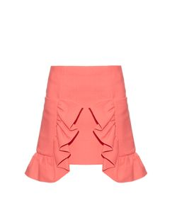 Marni | Ruffled Cotton-Blend Crepe Skirt