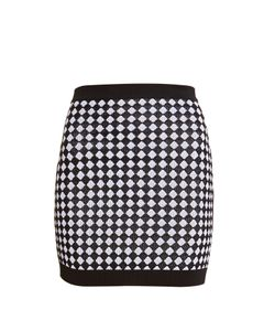 Balmain | Diamond-Knit Mini Skirt