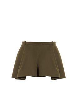 Balenciaga | Pleat-Front Twill Mini Skirt
