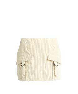 Anthony Vaccarello | Ribbed-Velvet Mini Skirt