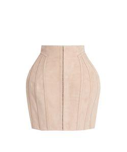 Balmain | Structured Suede Mini Skirt