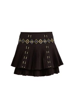 Vanessa Bruno | Fabio Embroidered Pleated-Cotton Skirt