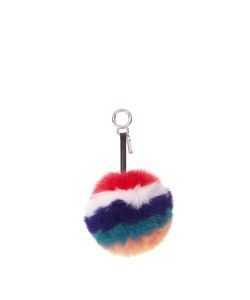 Fendi | Striped Fox-Fur Pompom Bag Charm