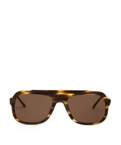 Thierry Lasry | Velocity Flat-Top Oval-Frame Sunglasses