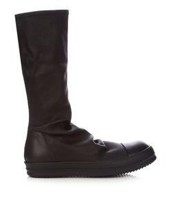 Rick Owens | Cyclops High-Top Stretch-Leather Sock Trainers