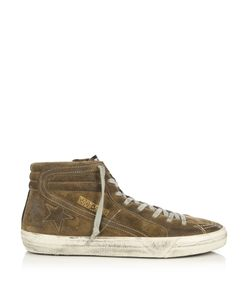 Golden Goose Deluxe Brand | Slide High-Top Suede Trainers