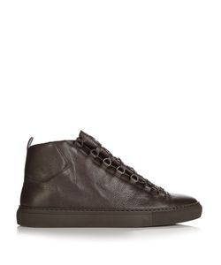 Balenciaga | Arena High-Top Grained-Leather Trainers