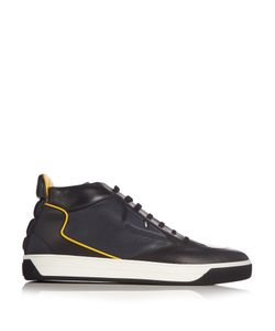 Fendi | Bag Bugs Leather High-Top Trainers