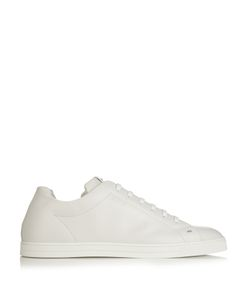 Fendi | Face-Embellished Low-Top Leather Trainers