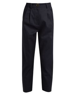 A.W.A.K.E. | High-Rise Cotton Cropped Chino Trousers