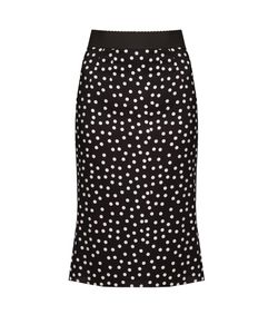 Dolce & Gabbana | Polka-Dot Print Stretch-Silk Midi Skirt