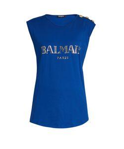 Balmain | Logo-Print Jersey Tank Top