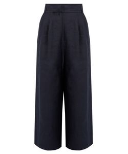 Tibi | Hessian Linen Cropped Trousers
