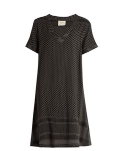 Cecilie Copenhagen | Short-Sleeved Scarf-Jacquard Cotton Dress