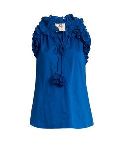 Figue | Fabiana Ruffle-Trimmed Cotton Top