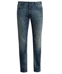 Fendi | Bag Bugs-Embroide Slim-Leg Jeans
