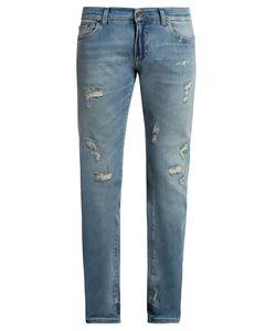 Dolce & Gabbana | Distressed Slim-Leg Jeans