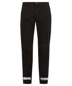 Off-White | Diagonal-Print Slim-Leg Jeans