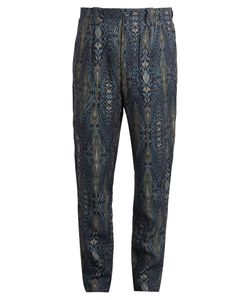 Etro | Tribal-Print Linen Trousers