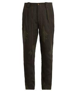 Etro | Floal-Print Linen Trousers