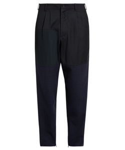 Longjourney | Relaxed-Fit Patchwork Wool Trousers