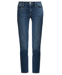 FRAME | Le High Straight-Leg Cropped Jeans