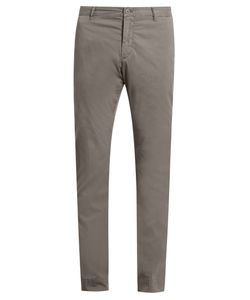 J.W. BRINE | Owen Cotton-Blend Gabardine Chino Trousers