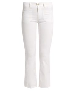 Stella McCartney | -Embroide Cropped Kick-Flare Jeans
