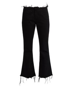 MARQUES'ALMEIDA | Frayed-Edge Cropped Fla Jeans