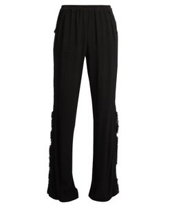 Raquel Allegra | Frayed-Edge Crepe Trousers
