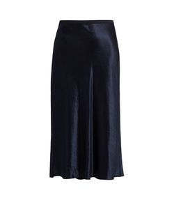 Vince | Satin Midi Skirt