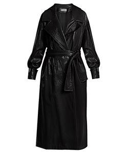 Wanda Nylon | Oversized Coated Trench Coat