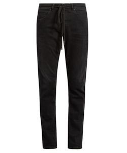 Off-White | Check-Print Slim-Leg Jeans