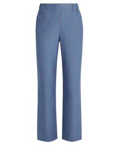 Muveil | Lip-Print Straight-Leg Trousers