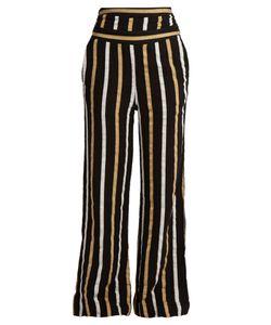 ACE & JIG | Dancin Striped Textured-Cotton Wide-Leg Trousers