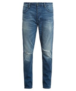 NEUW DENIM | Ray Distressed Tape-Leg Jeans