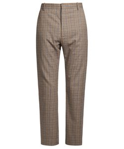 Balenciaga | Straight-Leg Checked Trousers