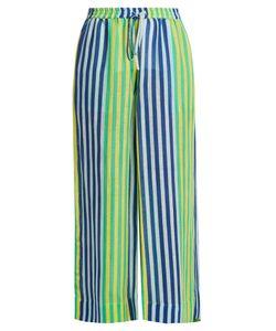 Diane von Furstenberg   Striped Linen-Blend Trousers