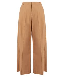 Muveil | High-Rise Wide-Leg Cotton Trousers