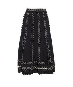 Alexander McQueen | Contrast-Trimmed A-Line Skirt