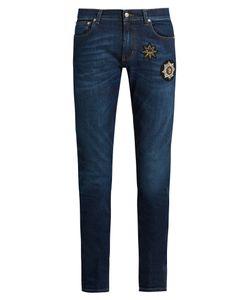 Alexander McQueen | Badge-Appliqué Skinny Jeans