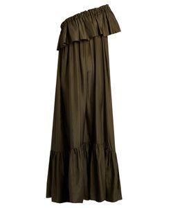 KALITA   La Fontelliana One-Shoulder Silk-Habotai Dress