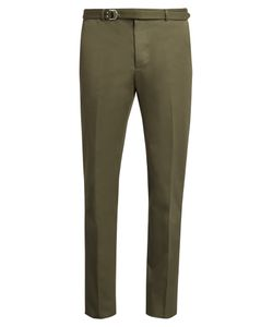 Valentino | Slim-Fit Belted Cotton Trousers