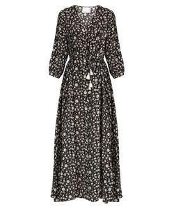Athena Procopiou | Night Dream Print Silk Maxi Dress