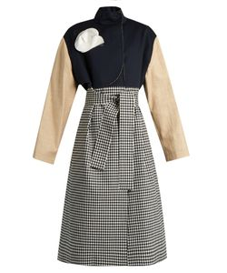 A.W.A.K.E. | Contrast-Panel Tie-Front Coat